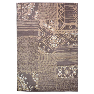 Patch Work Brown Traditional Rug - Rug Masters