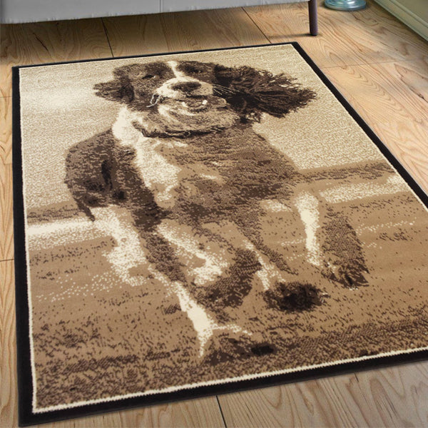Running Dog Animal Print Rug - Rug Masters