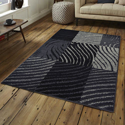 Vintage Checked Grey Rug