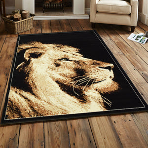 Lion Face Animal Print Rug