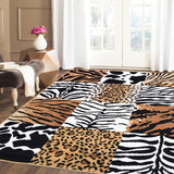 Safari Mix Animal Print Rug