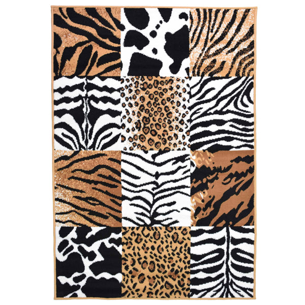 Safari Mix Animal Print Rug - Rug Masters