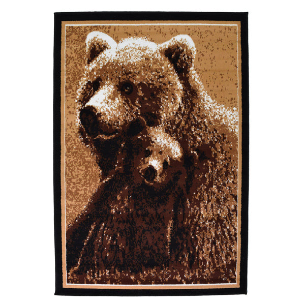 Bear Animal Printed Rug