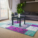 Texas Modern Faded Teal Patchwork - Rug Masters