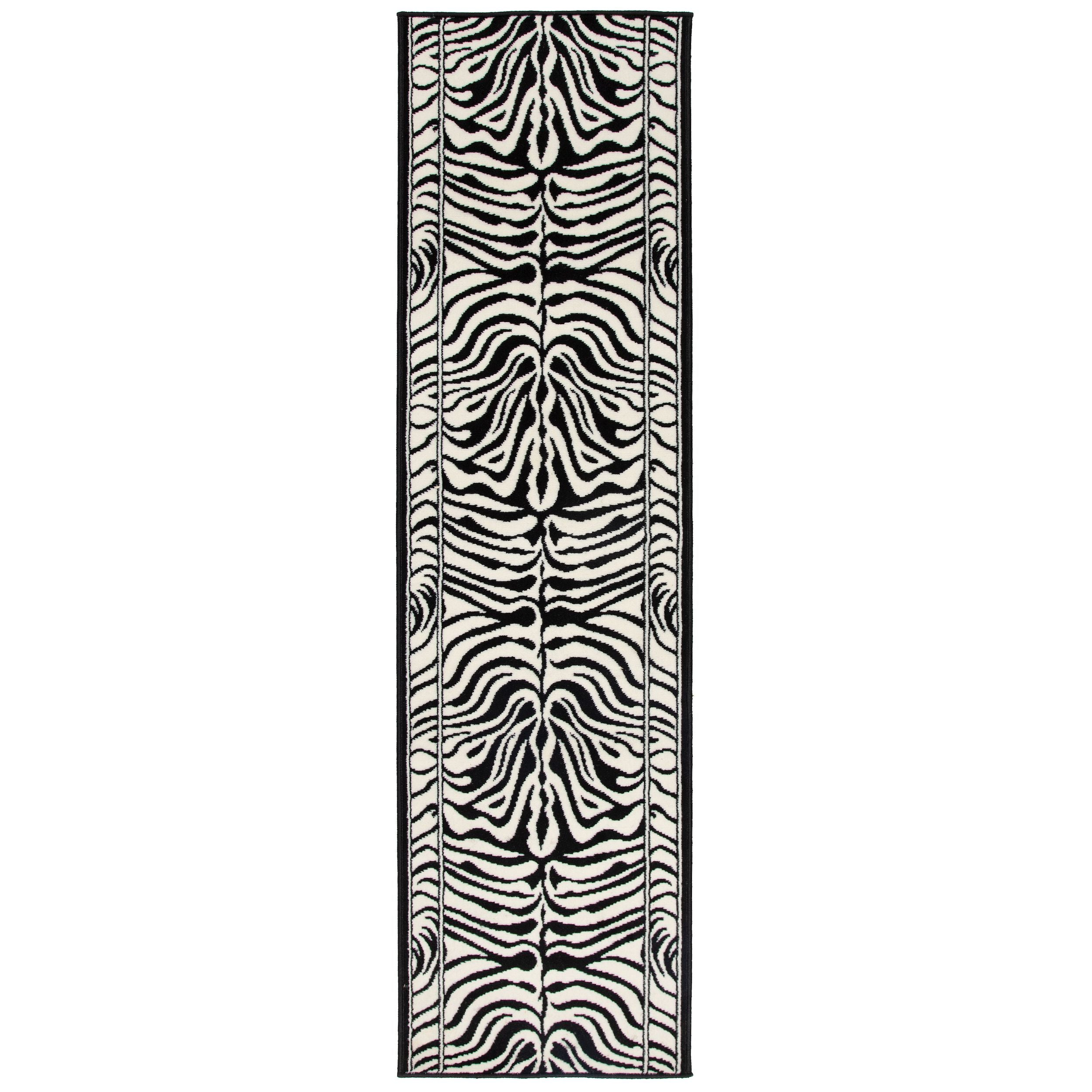 Zebra Print Stair Runner | Rug Masters | Free UK Delivery