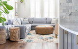 Jersey Shield Cream Modern Rug