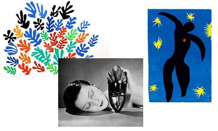 Jewelry inspired by Matisse and Man Ray