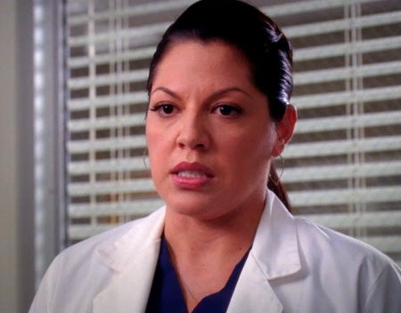 Callie in Large Lotus Hoop Earrings Grey's Anatomy