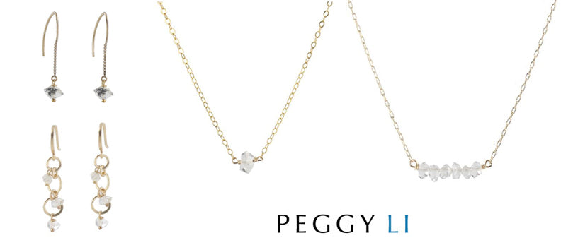 herkimer diamond jewelry by peggy li
