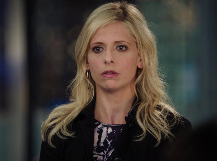 Black Spinel Threader Earrings seen on Sarah Michelle Gellar