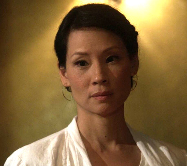 Large Tribal Spike Earrings seen on Lucy Liu