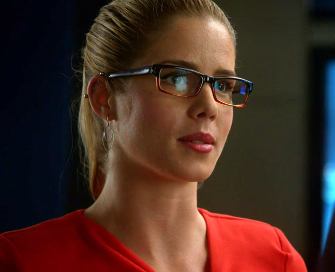 Abstract Leaf Earrings seen on Felicity Smoak