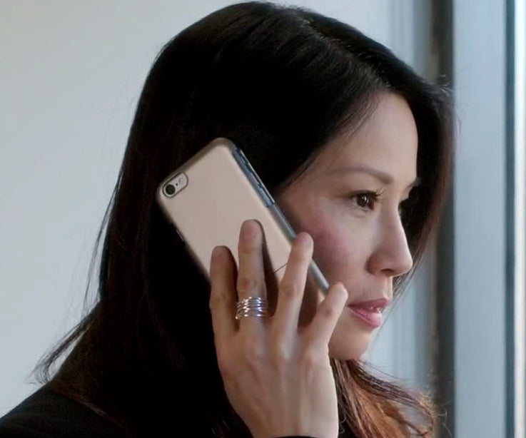 Lucy Liu Thick Nested Wire Ring Elementary