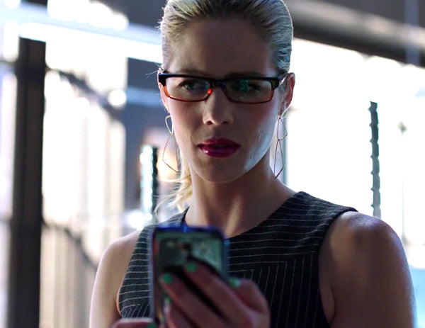 Felicity Smoak Cornered Geo Earrings on Arrow