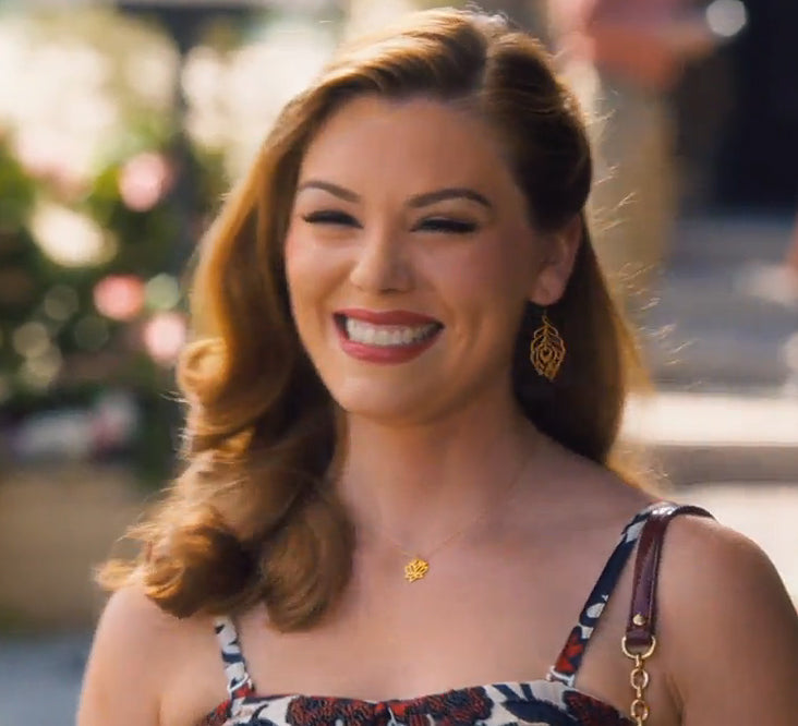 Peacock Feather Earrings seen on Hart of Dixie