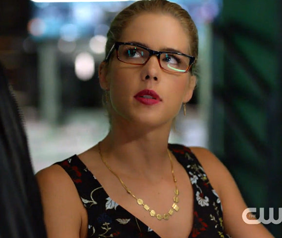 Felicity Smoak in Small Diamond Spike Earrings by Peggy Li Creations