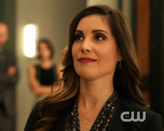 Susan Williams (Carly Pope) on Arrow in Peggy Li Creations earrings