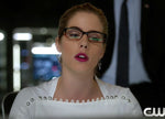 Triangle Cage Earrings seen on Arrow