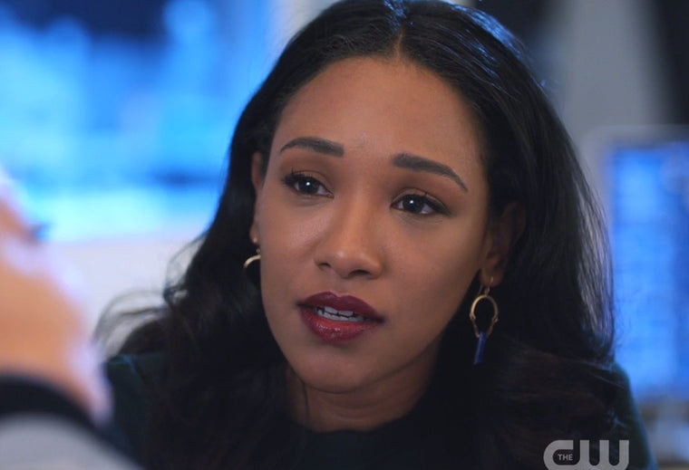 Iris West lapis earrings