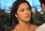 Jane (Gina Rodriguez) opal chip earrings