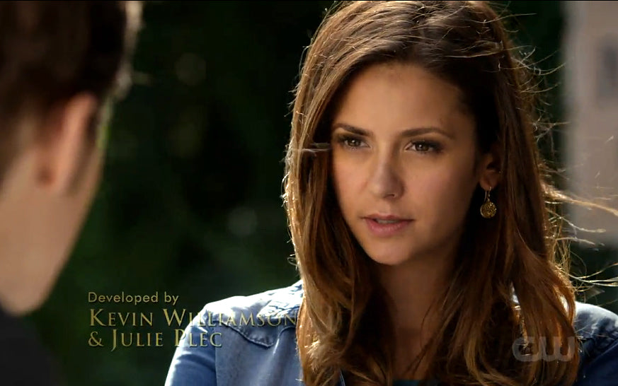 Elena on The Vampire Diaries round druzy earrings
