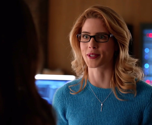Felicity Smoak CZ Bar Necklace