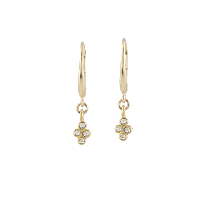 Clover cluster diamond earrings