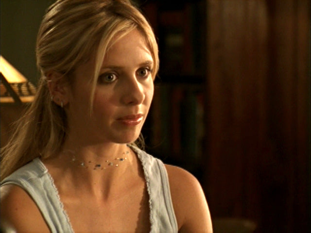 Buffy (Sarah Michelle Gellar) in my blues necklace