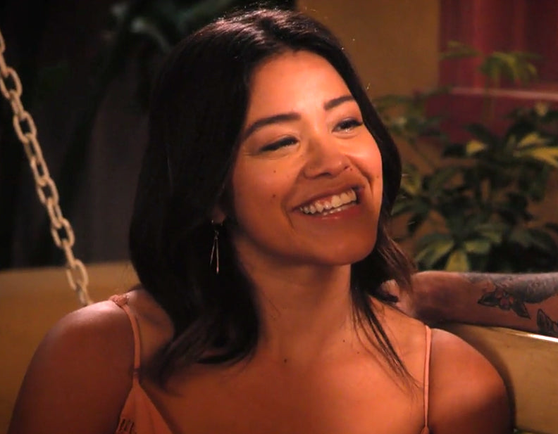 Skinny Triangle Earrings seen on Jane the Virgin