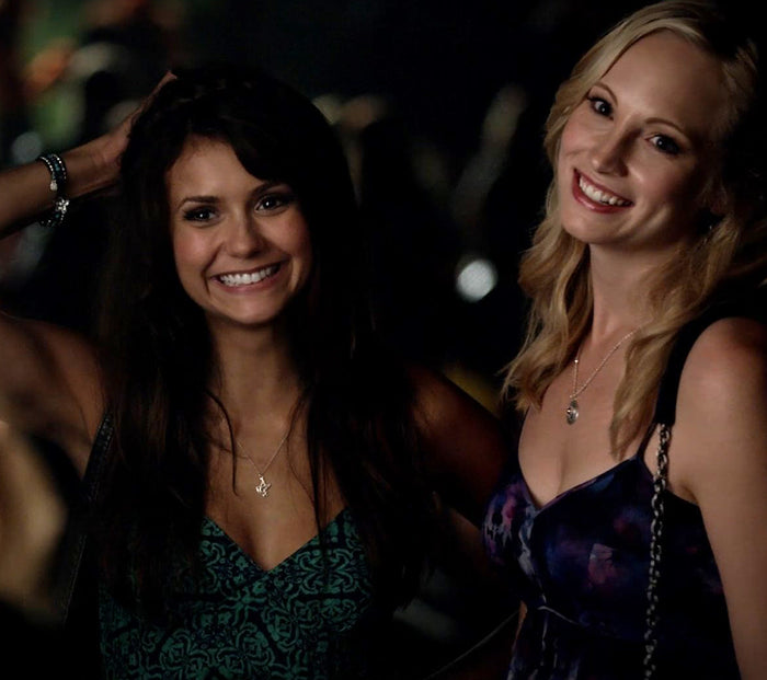 Dove Charm Necklace seen on The Vampire Diaries Nina Dobrev