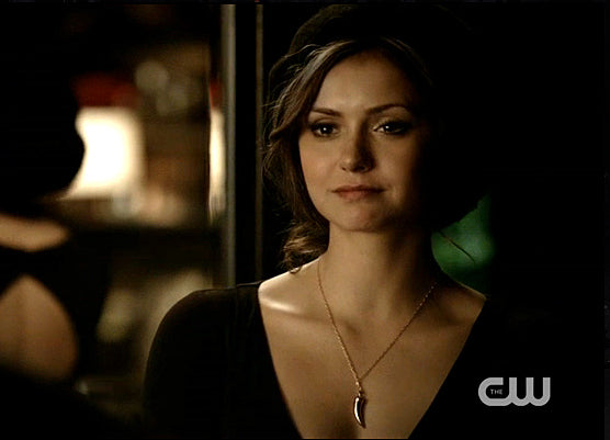 Bronze Horn Necklace seen on Elena Gilbert on The Vampire Diaries