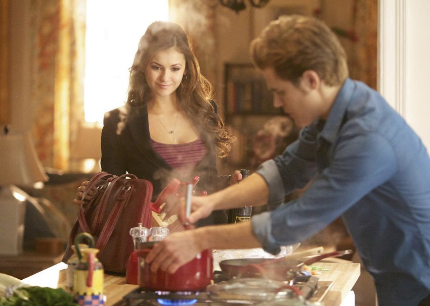 Onyx Point Necklace seen on The Vampire Diaries Nina Dobrev