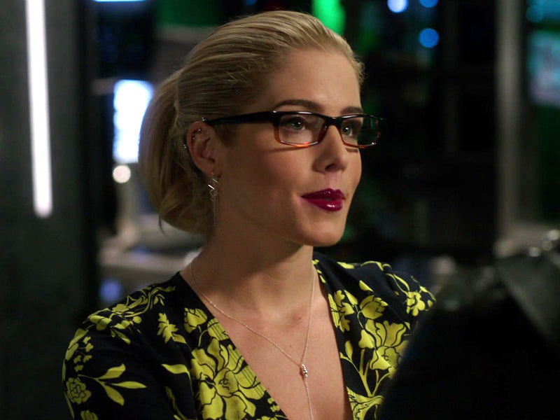 Felicity Smoak silver beaded lariat necklace seen on Arrow