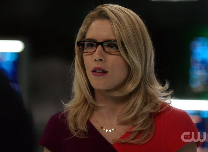 Felicity Smoak Triangles Necklace seen on Arrow