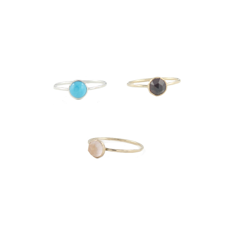 6mm gemstone ring