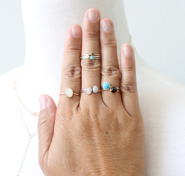 Juicy Gemstone Rings by Peggy Li