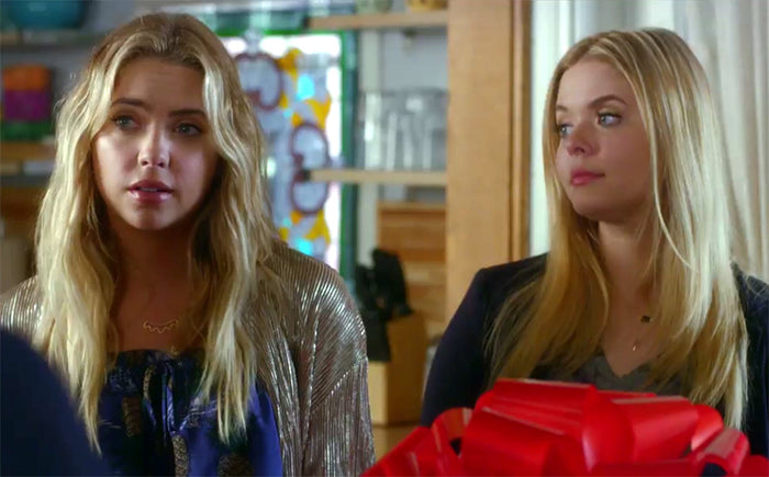 Ashley Benson Pretty Little Liars wearing a Sunburst Necklace