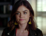 Lucy Hale sideways heart necklace Pretty Little Liars