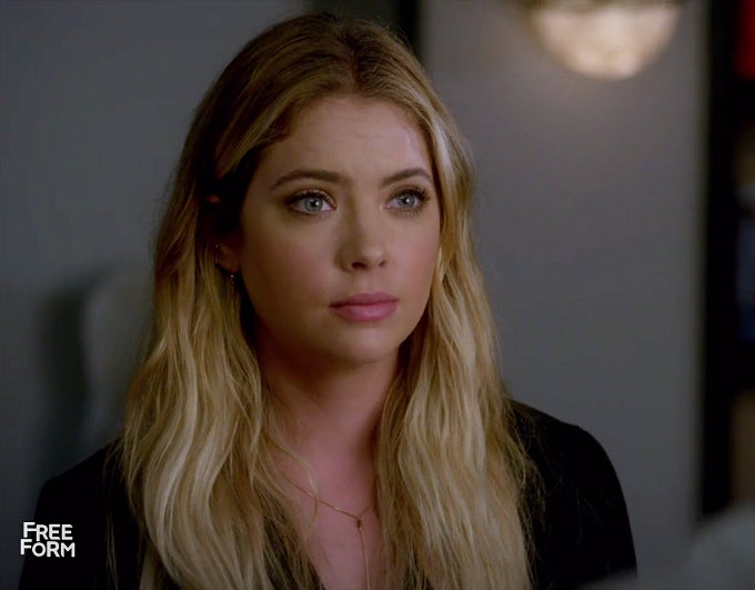 Hanna (Ashley Benson) Hematite Lariat Necklace Pretty Little Liars