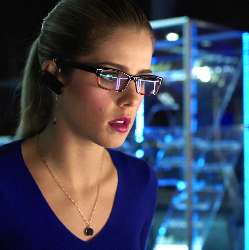 Round Druzy Necklace worn by Felicity Smoak on Arrow