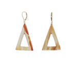 Carnelian triangle earrings