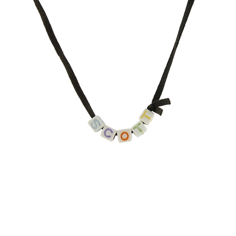 Alphabet bead chain necklace