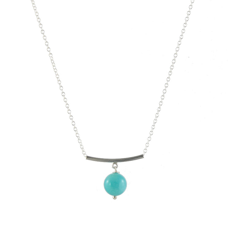 Amazonite Bar Bead Necklaces