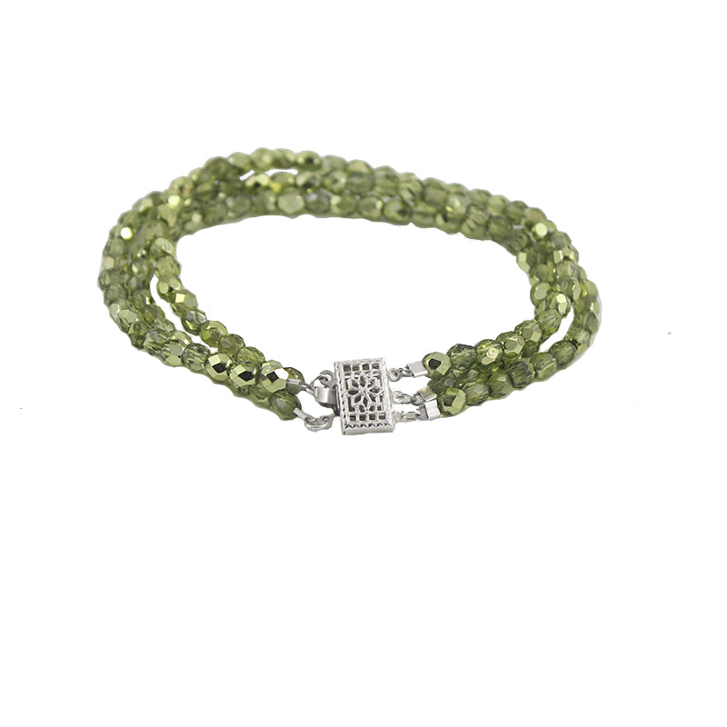 Anya green glass bracelet