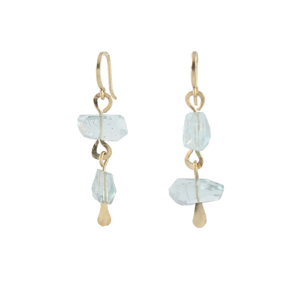 Aqua Chunk Earrings