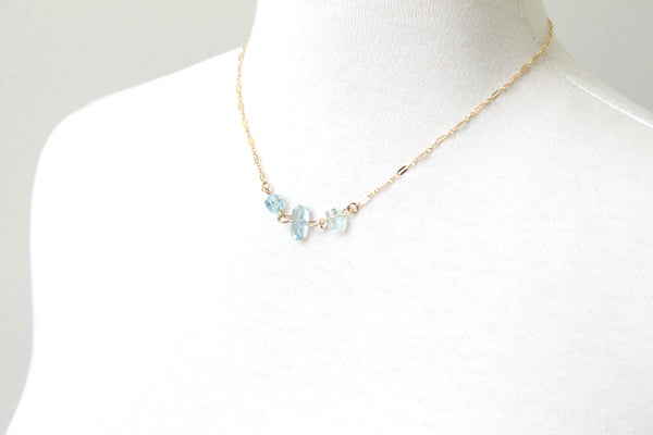 Aquamarine necklace handmade
