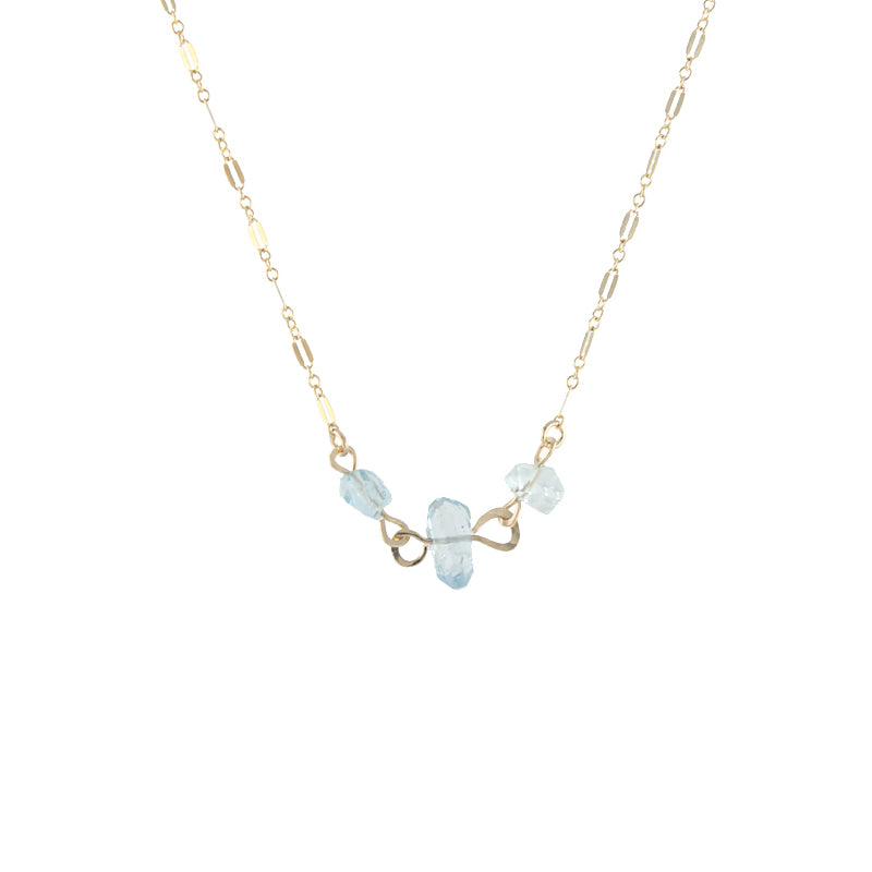 Aquamarine Chunk Necklace