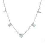 Aquamarine Spires Necklace