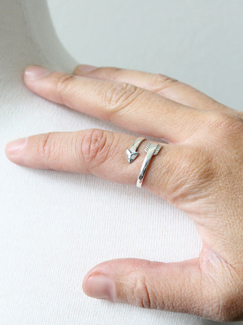Silver arrow ring seen on Jane the Virgin