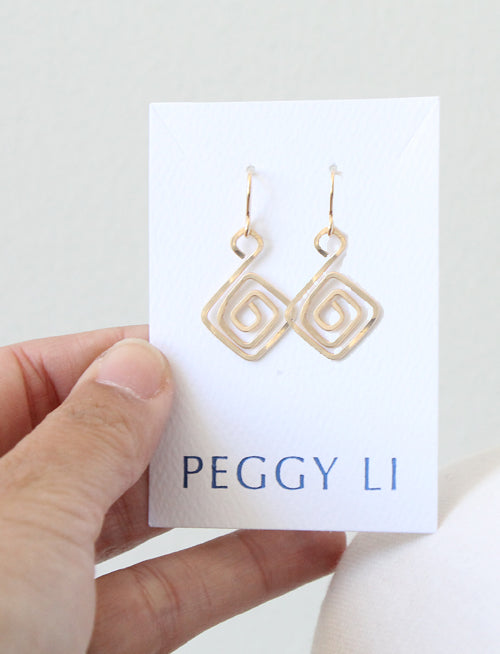 Aztec Swirl Earrings by Peggy Li Creations